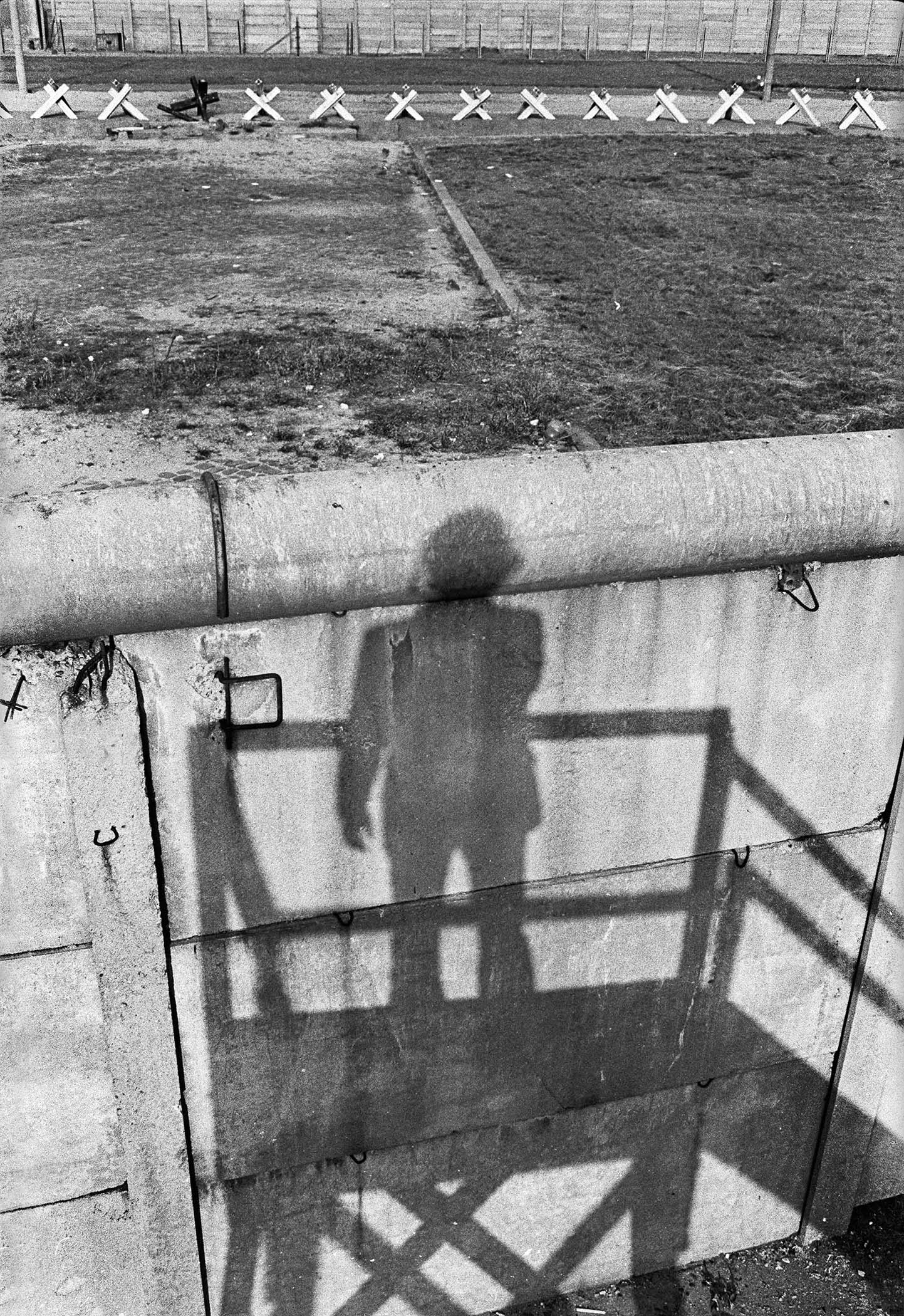 berlin3_26. Shadow on Berlin Wall (looking east),1974